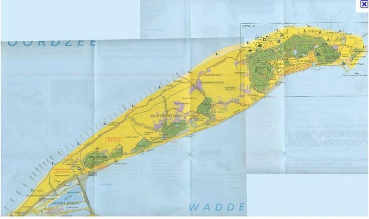 Vlieland map.