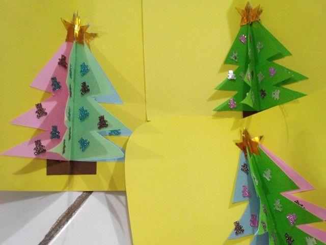 Kartu natal..edisi pohon teranh ...tampak dalam