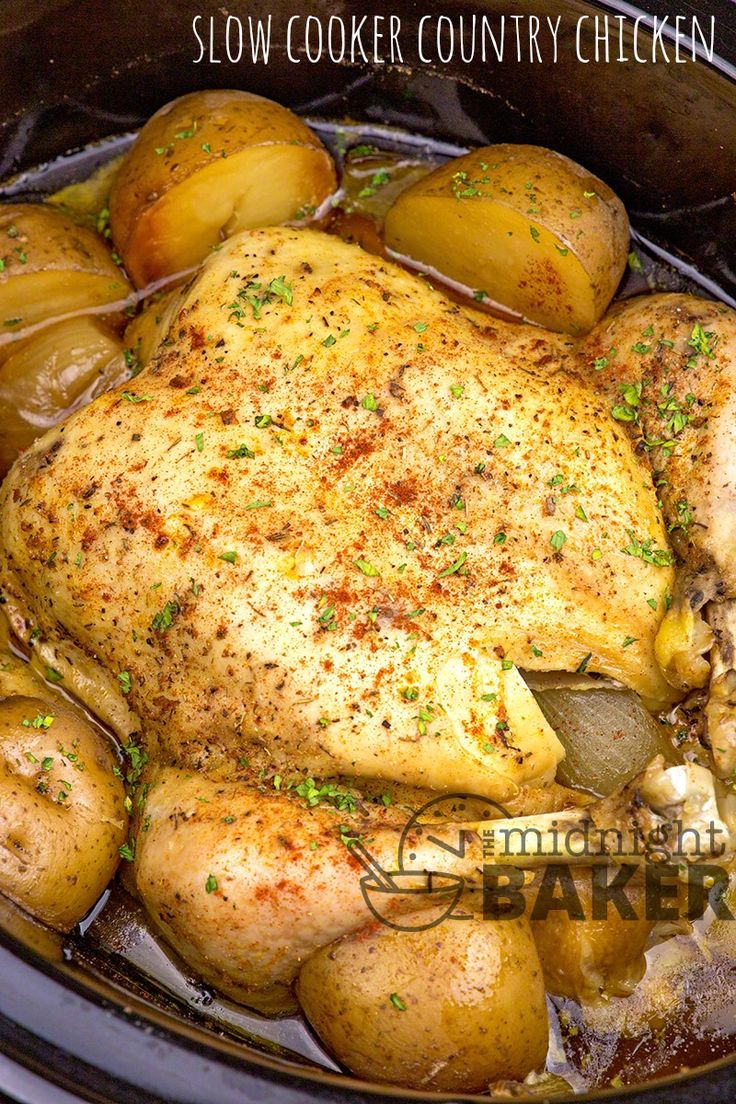 Country-style chicken cooked low and slow in your slow cooker. Vegetables give it a fantastic flavor. Entire Meal In One Pot The slow cooker is an excellent choice if you want to make a whole dinner in just one pot. This chicken dinner is an good example. Everything cooks together. I've just discovered this feature...Read More »