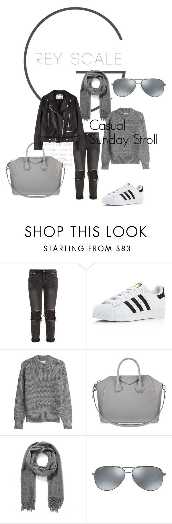 """""""Casual"""" by gunhild on Polyvore featuring OneTeaspoon, adidas, DKNY, Givenchy, Acne Studios and Ray-Ban"""