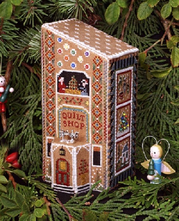 Gingerbread Quilt Shop Part 8 of Gingerbread Village - The Victoria Sampler #TheVictoriaSampler