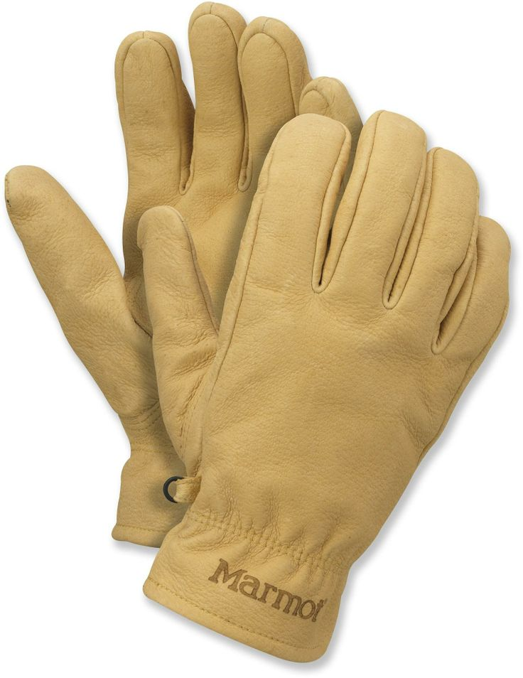 Water-repellent leather provides a great grip and long-lasting wear—Men's Marmot Basic Work Gloves. #REIGifts