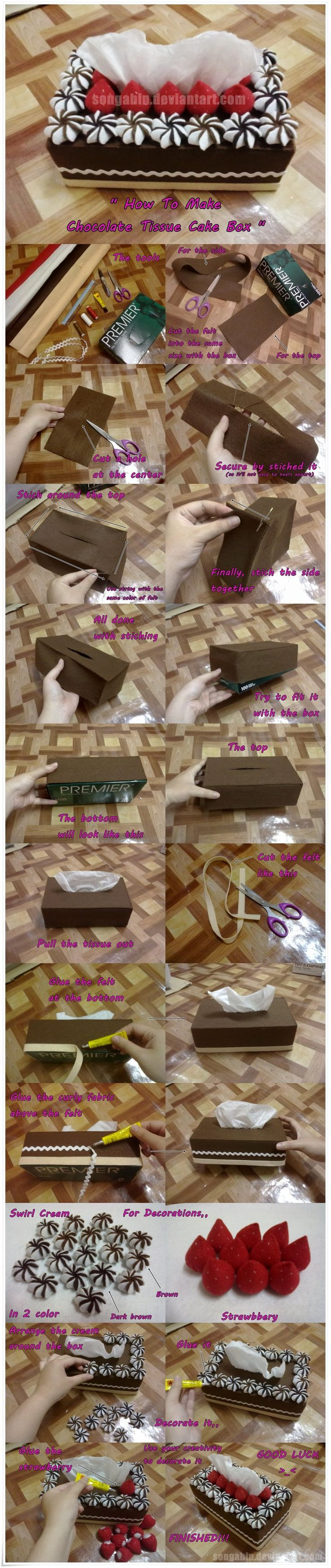Chocolate Tissue Cake Box.. by SongAhIn.deviantart.com on @deviantART