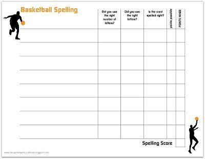 88 best Homeschool - Spelling images on Pinterest Spelling - spelling test template