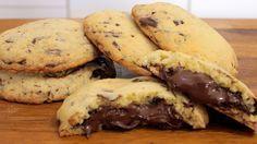 Nutella Chocolate Chip Cookies Rezept als Back-Video zum selber machen! Ganz einfach Schritt für Schritt erklärt!