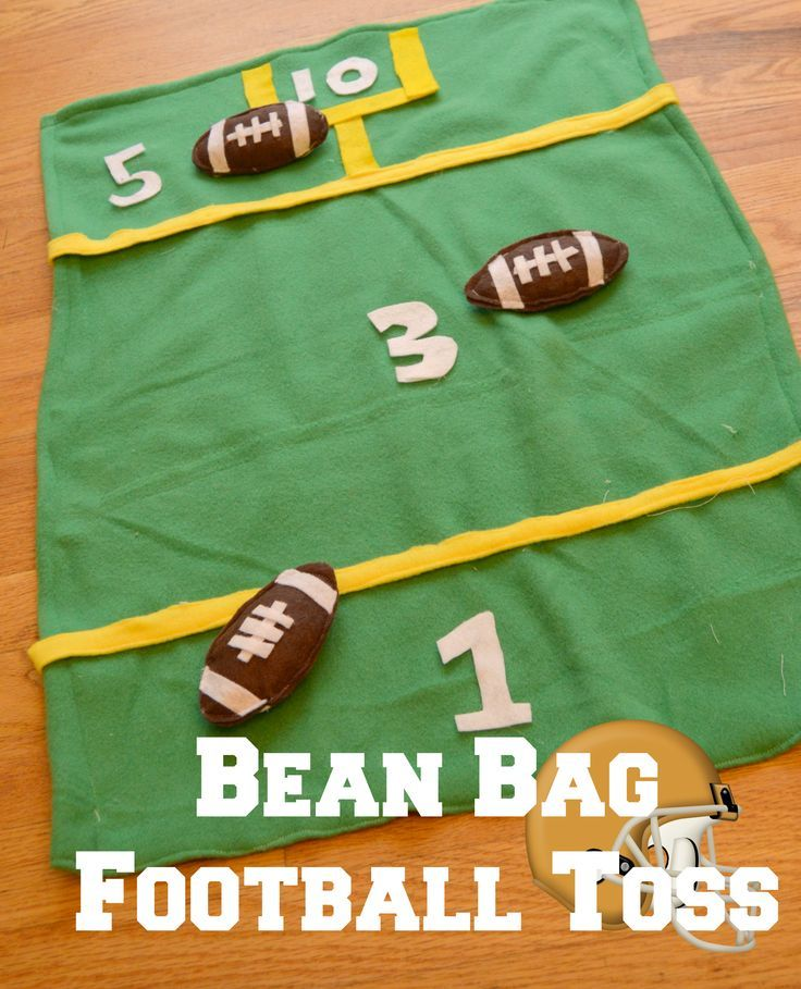 Bean Bag Football Toss Game for Family Fun for the Kids during the Big Gametime Party