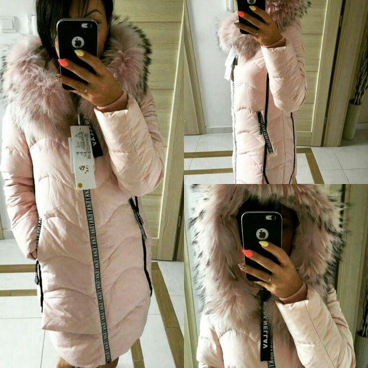 Beautiful winter down coat with fox fur £120