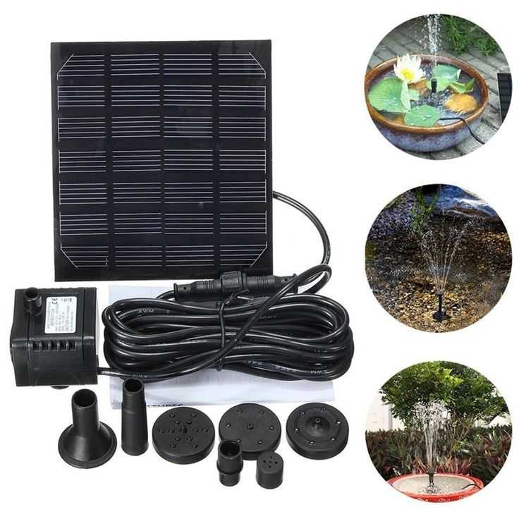 Solar Power Floating Fountain Water Pump For Garden Pond 400 x 300