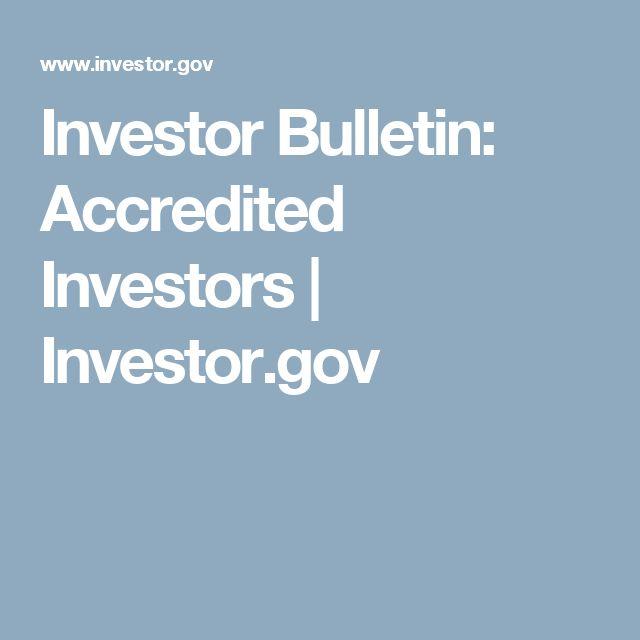 Investor Bulletin: Accredited Investors | Investor.gov