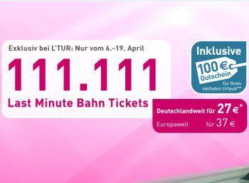 Gratis: Ltur-Gutschein über 100 Euro zur Bahnbuchung ab 27 Euro https://www.discountfan.de/artikel/reisen_und_bildung/lgratis-ltur-gutschein-ueber-100-euro-zur-bahnbuchung-ab-27-euro.php Via Ltur sind jetzt wieder Bahntickets für deutschlandweite Reisen zum Schnäppchenpreis von 27 Euro zu haben, europaweite Bahntrips kosten pauschal 37 Euro. Im Preis inbegriffen ist ein Ltur-Gutschein über 100 Euro für die nächste Urlaubs-Buchung. Ltur: Via Bahn für 37 Euro in europ�