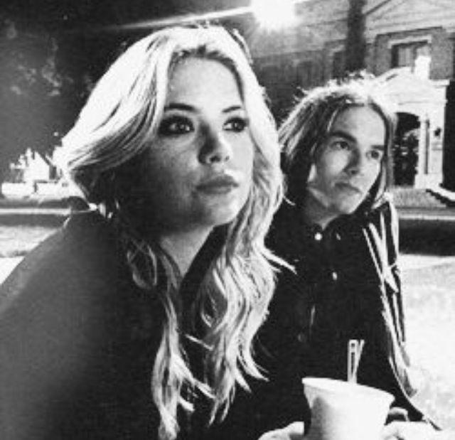 Hanna and Caleb (Ashley Benson and Tyler Blackburn)