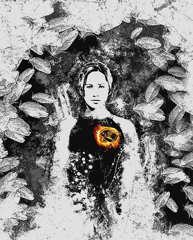 My Hunger Games design is up on Redbubble. Looks great on shirts or as poster..leggins and pencil skirt look great too!