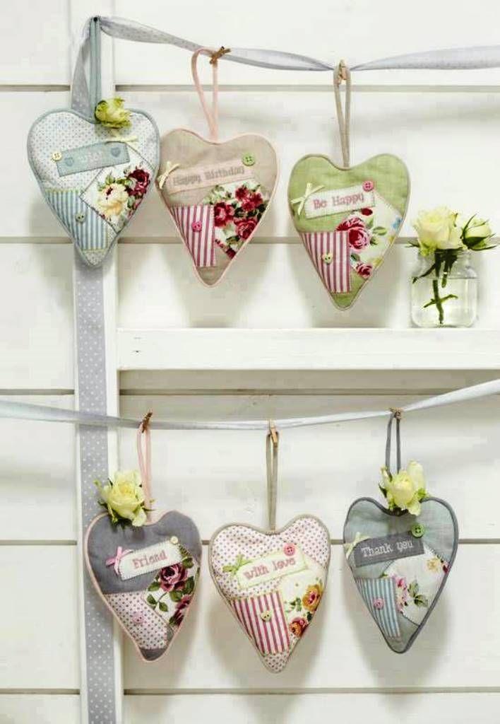Pretty little heart hangers
