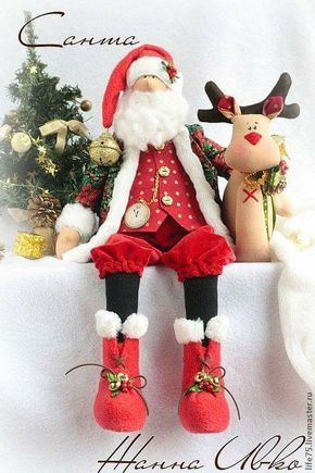 Patrón muñeco Papá Noel con reno