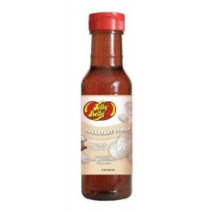 An outer of 6 bottles of Jelly Belly Pancake Syrup.