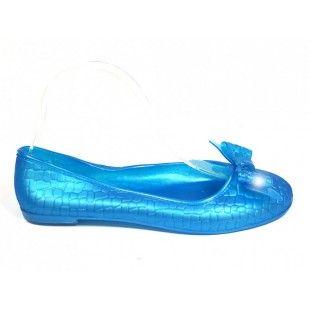 Balerini ieftini: Balerini albastri din material sintetic