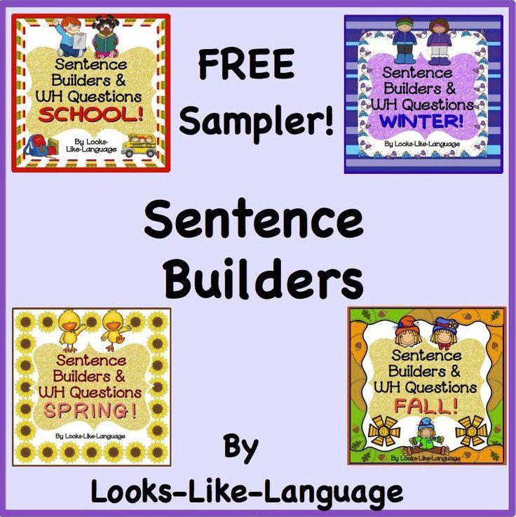 Sentence Building | Picture Activities | Worksheets | Mini