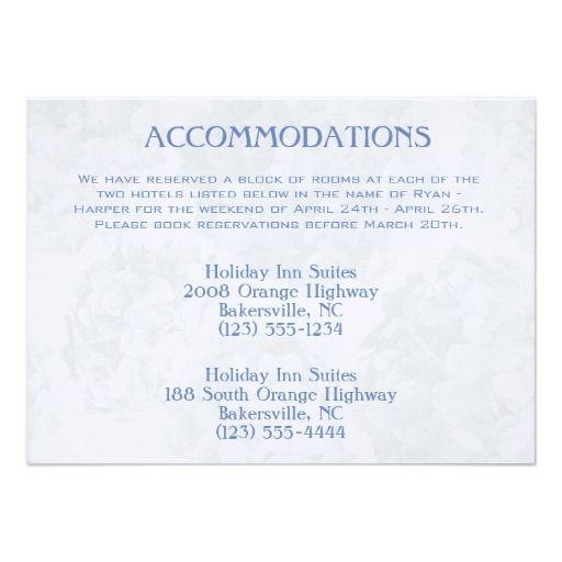 Alpha Blue Hydrangea Accomodations Cards