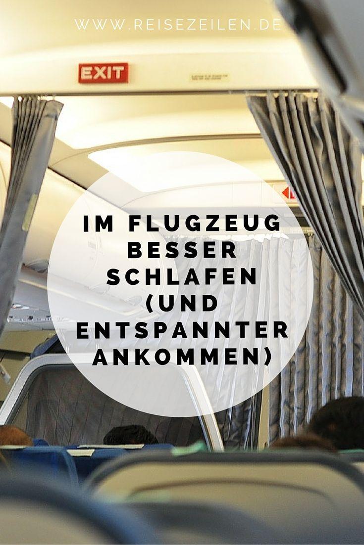 Im Flugzeug besser schlafen und entspannter ankommen