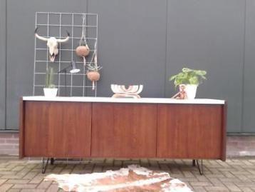 Dressoir 2 m vintage design lowboard retro tv-meubel kast 60