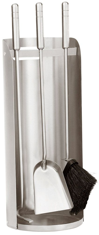 Edelstahl- Kaminbesteck ROLLO-2, 3- teilig