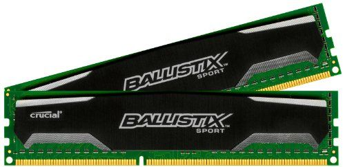PRODUCT DETAILS : Crucial Ballistix Sport is a 8GB kit consisting of (2) 4GB DDR3 modules that operates at speeds up to 1600 MT/s and has a CL9 latency with [ ]