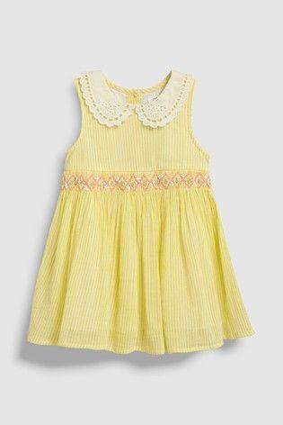 f3513f20ca3d Yellow Shirred Collar Dress (3mths-7yrs) | Wedding in 2019 | Dresses ...