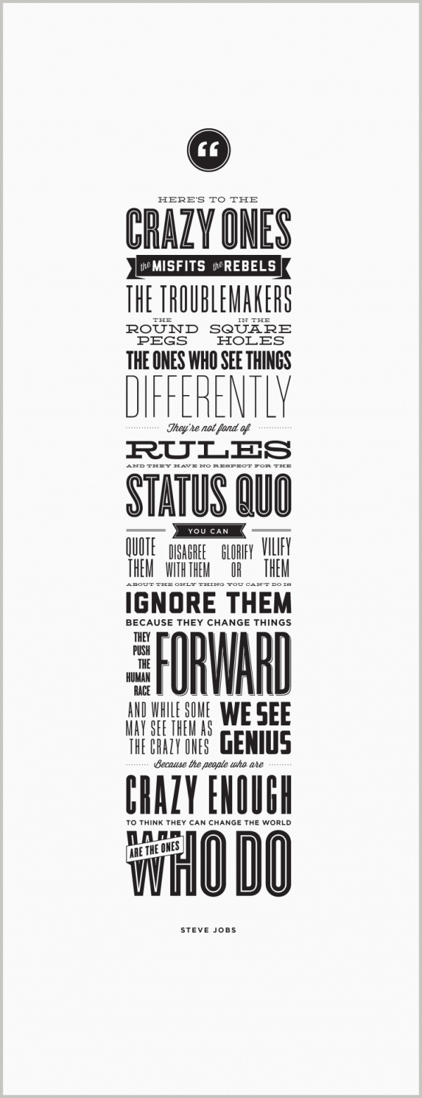 17 best images about apple s universe official typographic poster greatquotesstevejobschange