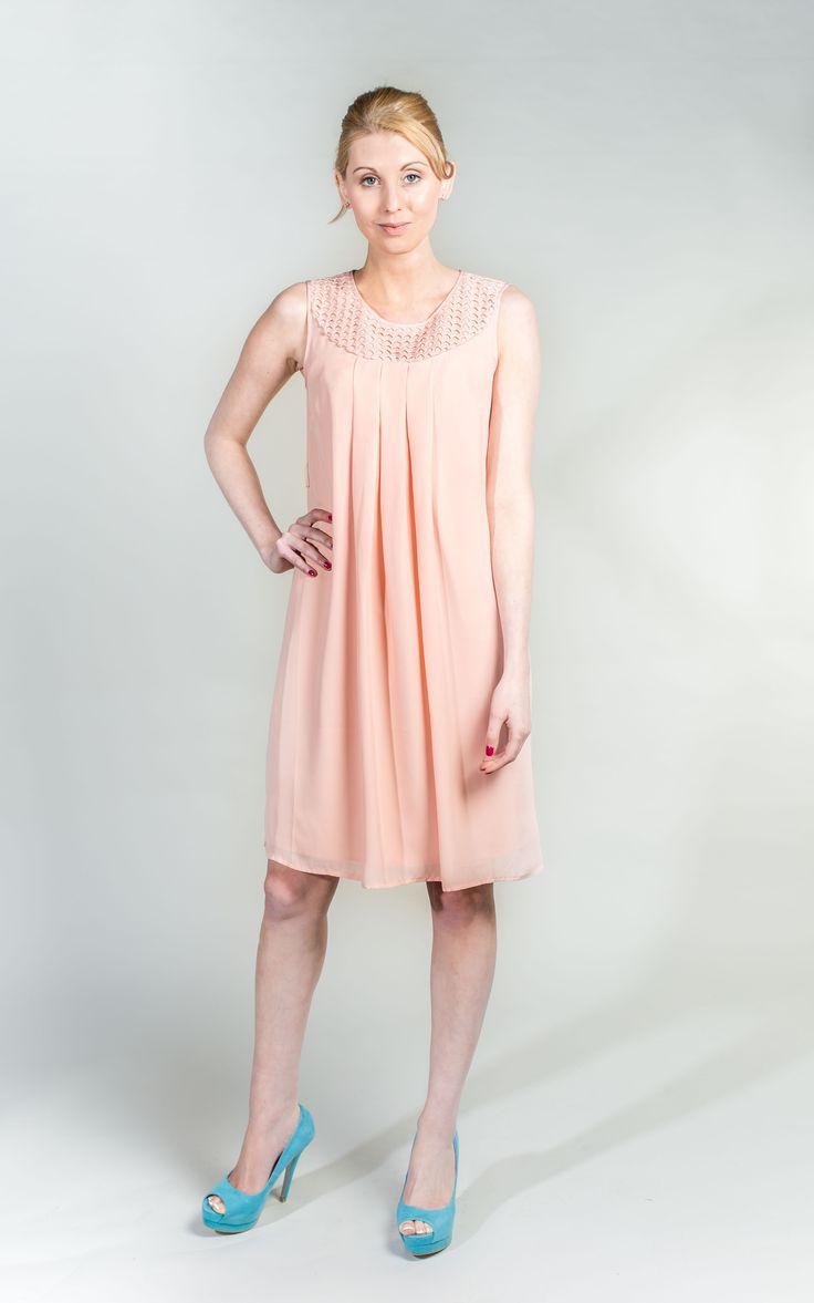 Pale Pink Dress A Line Dress   #PrettyinPink #Pink #Dress #WantHerDress