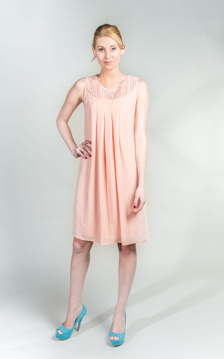 Pale Pink Dress A Line Dress   #PrettyinPink #Pink #Dress #WantHerDress