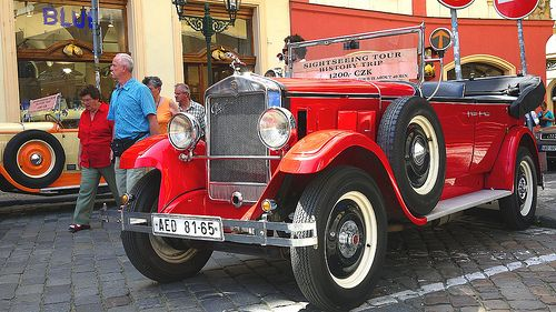 Historical car Praga Alfa in Prague. | Flickr - Photo Sharing!