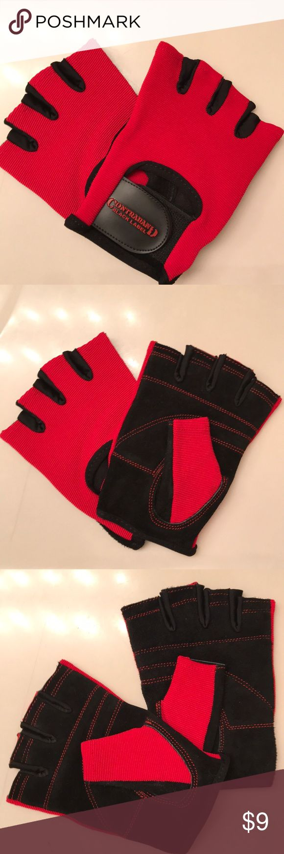 Contraband Black Label 5050 Weight Lifting Gloves Never used. Leather palm, breathable mesh top, soft interior. Contraband Accessories Gloves & Mittens