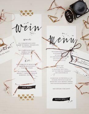 Kalligrafie, Wedding Stationary, Menükarte Hochzeit
