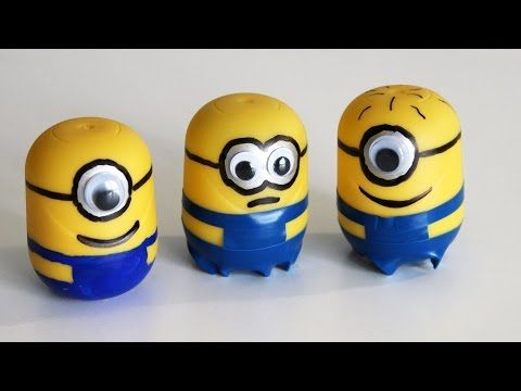 Cómo hacer minions con Kinder Sorpresa - How to make Minions with Kinder Surprise Eggs - YouTube