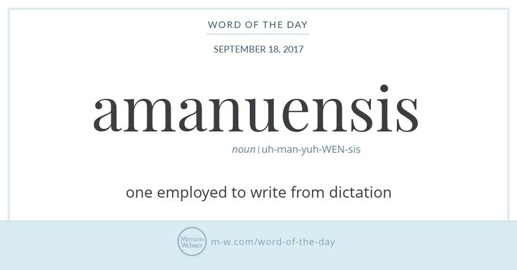 In Latin, the phrase servus a manu translates loosely as 'slave with secretarial duties.' (The noun manu, meaning 'hand,' gave us words such as manuscript In the 17th century the second part of this