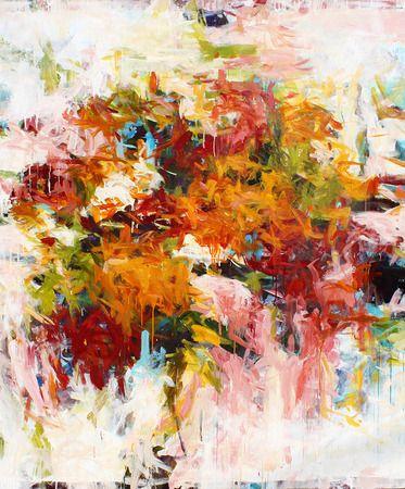 Karen Silve, Market XXXVII, 2013, Acrylic on Canvas, 68 X 58 inches