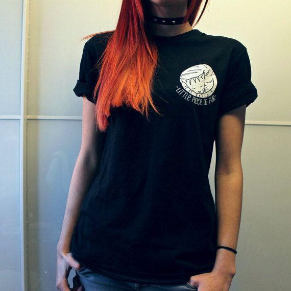 Little Piece Of Fur Unisex T-Shirt Black por EbonyAnchor en Etsy