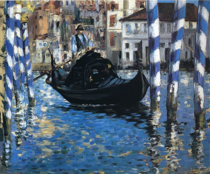 The grand canal of Venice (Blue Venice) - Edouard Manet