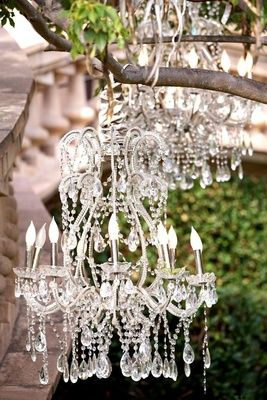 Sparkling Chandeliers    Photography: Bob %26 Dawn Davis Photography   Read More:  http://www.insideweddings.com/weddings/ashley-hebert-and-jp-rosenbaum/438/