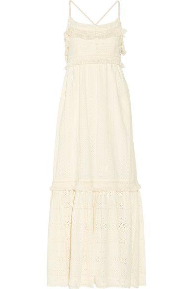 Rachel Zoe - Riley Fringed Broderie Anglaise Cotton Maxi Dress - Cream - US