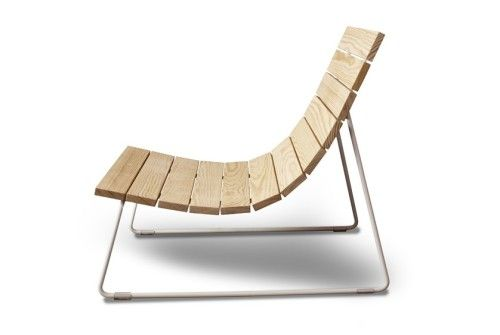 Plank is an outdoor furniture piece that is made from a new, innovative material called Perennial Wood. The chair uses very few materials, those being the perennial wood, powder-coated rod base and the metal bolts that hold the frame together. (4)