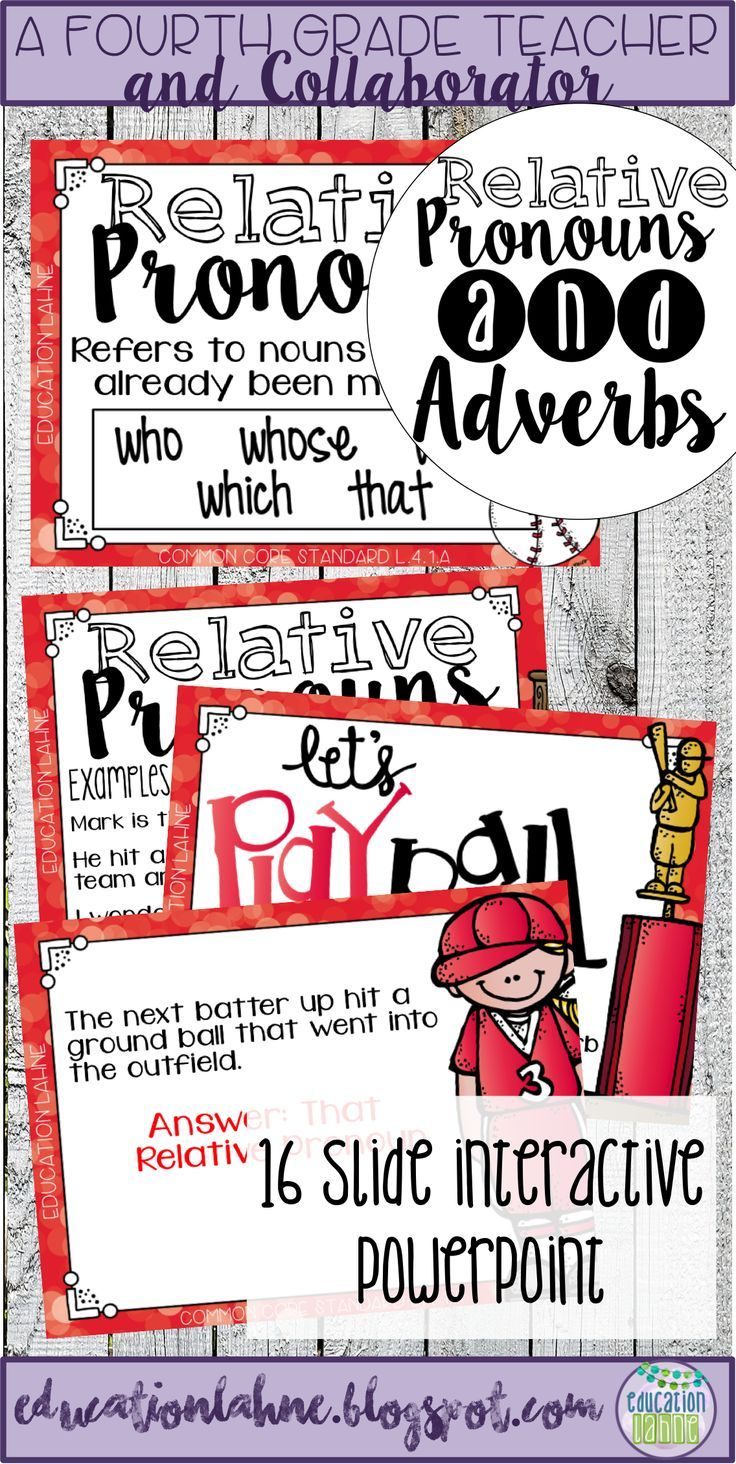 Relative adverbs lessons 4th grade