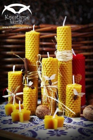 Vyroba sviecok z vcelich medzistienok #diy #candles