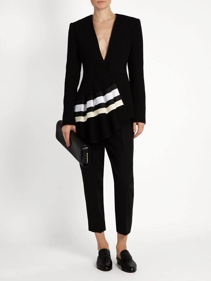 Fan asymmetric wool-crepe jacket | Carl Kapp | MATCHESFASHION.COM AU