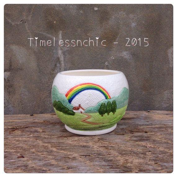 Succulent Planter  Rainbow Decor Herb Planter  by TimelessNchic