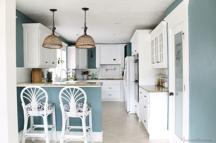 Choosing a New Color for our Kitchen Benjamin Moore - Aegean Teal
