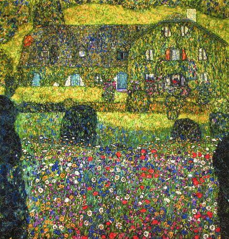 Gustav Klimt, Country House on ArtStack #gustav-klimt #art