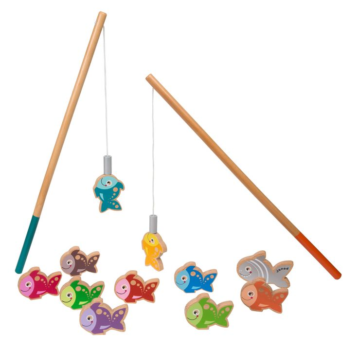 Let's Go Fishing - Wooden Magnetic Fishing Playset by Janod