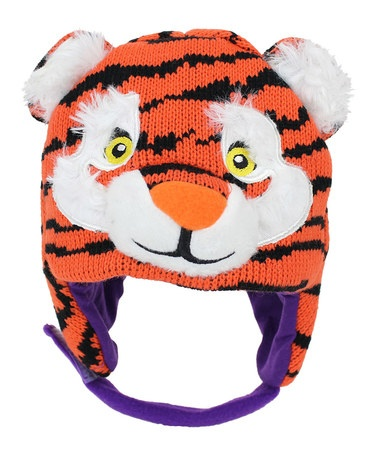 Take a look at this ZooZatZ Clemson Mascot Earflap Beanie by ZooZatZ on #zulily today!