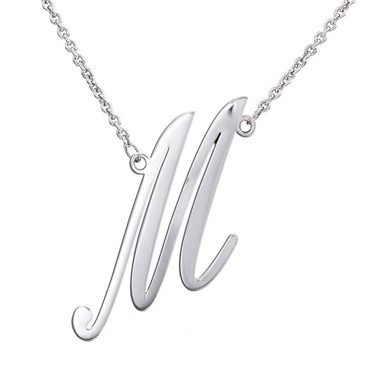 Silver Italic 25mm Initial necklace R950 ***MANUFACTURING TIME 10 WORKING DAYS***
